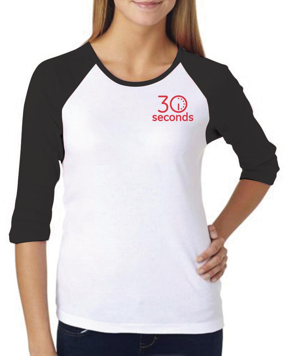 30Seconds Women's Baseball T-shirt