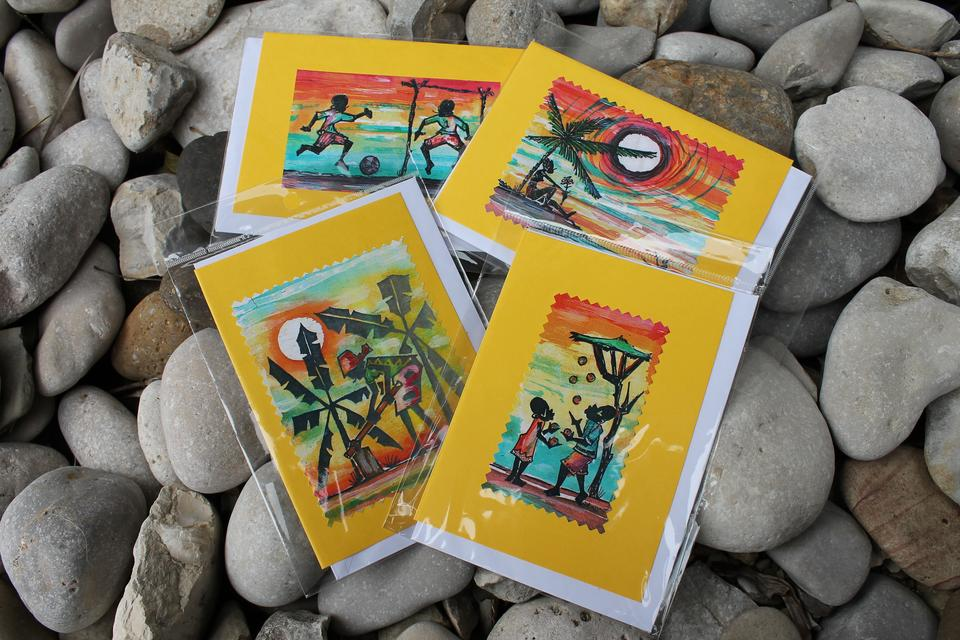 The Gem Foundation:  Vibrant African Art Note Cards
