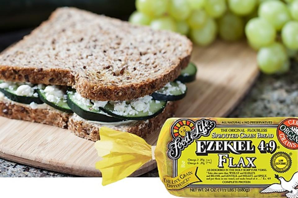 Ezekiel 4:9 Flax Sprouted Whole Grain Bread - No Artificial Ingredients & Delicious!