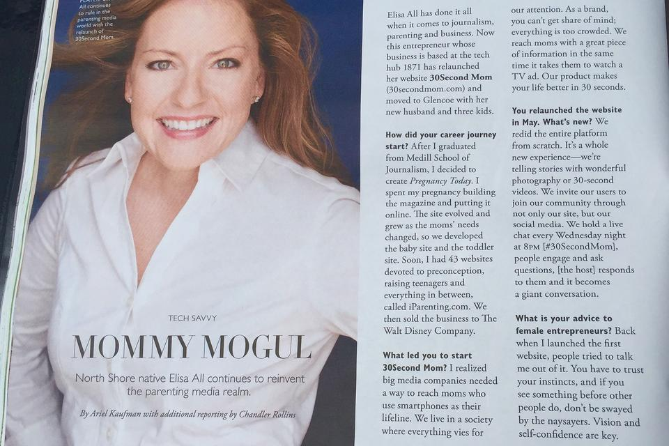 30Second Mom Founder Elisa All Schmitz Featured in NS Modern Luxury Magazine: Check Out Her Advice for Entrepreneurs