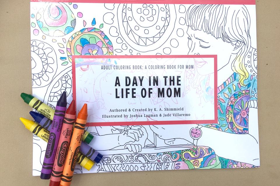 Adult Coloring Book for Mom Proves Laughter is the Best Me 6113c