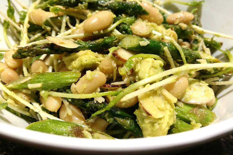 Asparagus, Pea Shoots & Bean Salad: A Healthy Recipe That Screams Spring