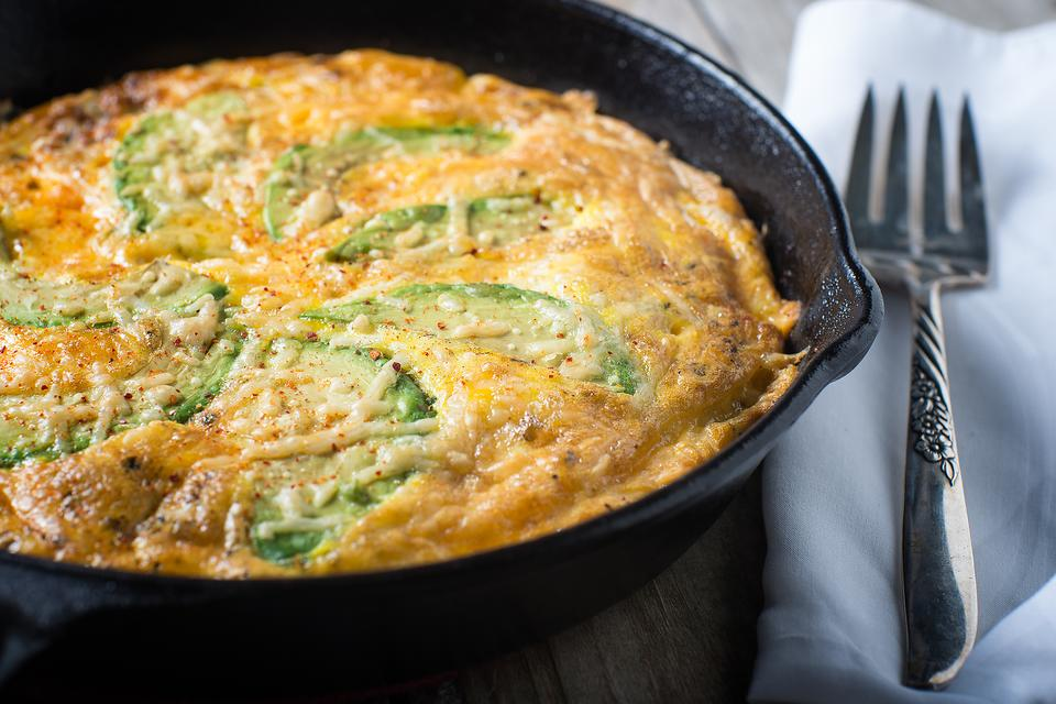Creative Frittata Recipes: This Avocado & Cheese Frittata Recipe Is a Whole Lotta Yum in One Pan