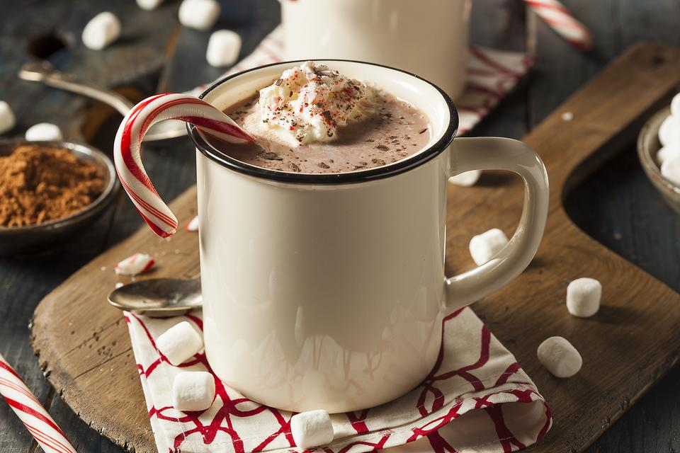 Homemade Cocoa: How to Make Hot Chocolate With Peppermint Whipped Cream