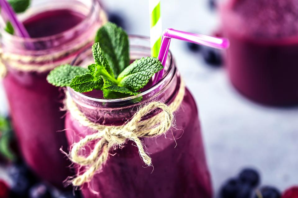 Berry Healthy Coco-Kale Smoothie:  Loaded With Berries, This Kale Coconut Smoothie Packs an Antioxidant Punch