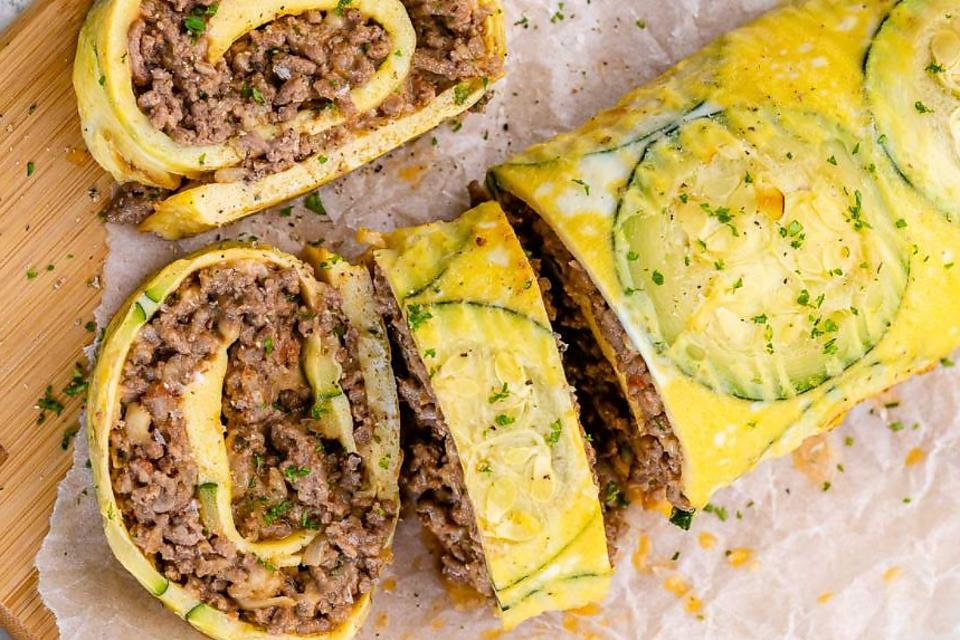 Crazy Good Zucchini Rolls Recipe: Serve This Easy Ground Beef, Egg & Zucchini Recipe for Breakfast, Lunch or Dinner