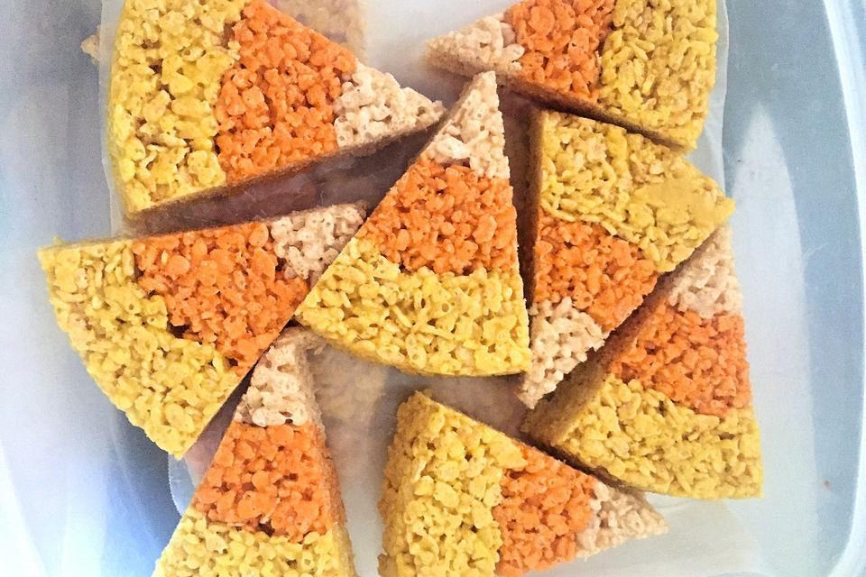 Easy Candy Corn Rice Krispies Treats Recipe: A Fun Sweet Treat for Fall & Halloween