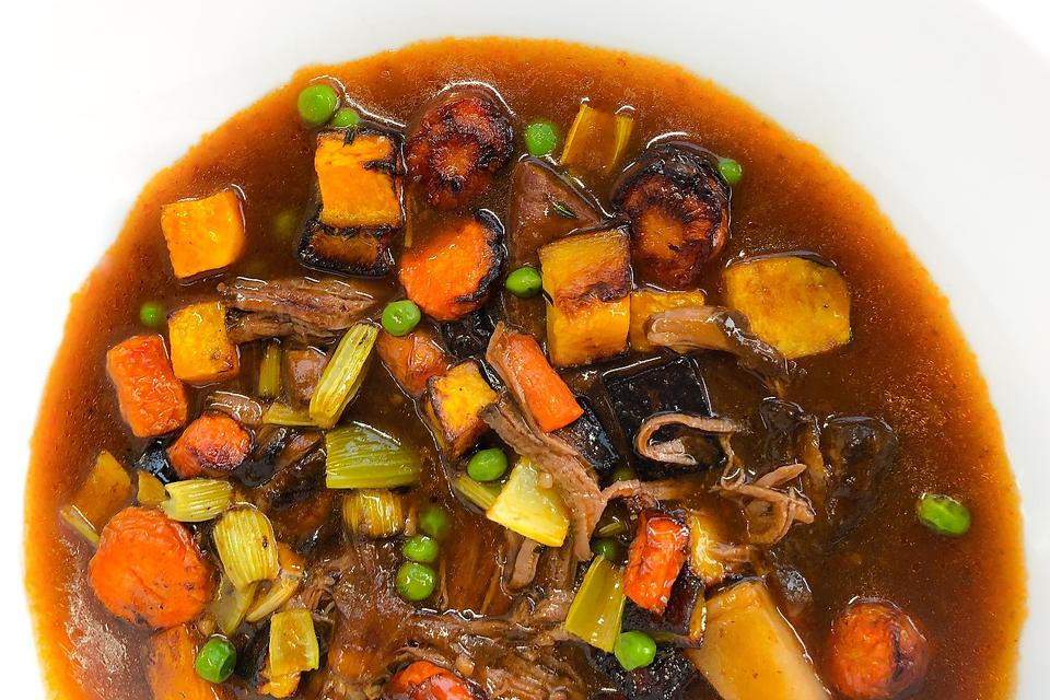 Chef Adrianne's Maximum Flavor Roasted Vegetable Beef Stew Is a Classic Recipe With a Twist!