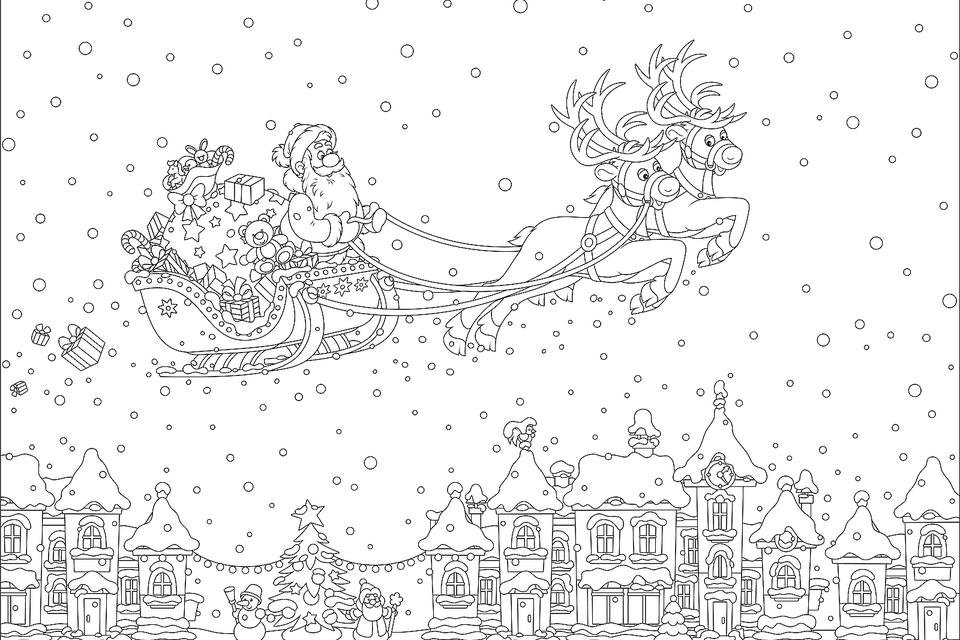 christmas coloring pages to print Christmas Coloring Pages: 16 Printable Coloring Pages for the  christmas coloring pages to print