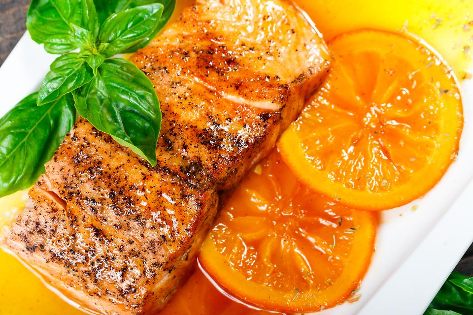 Citrus-Glazed Salmon With Grilled Oranges Brightens & Lightens Up Your Outdoor Grilling