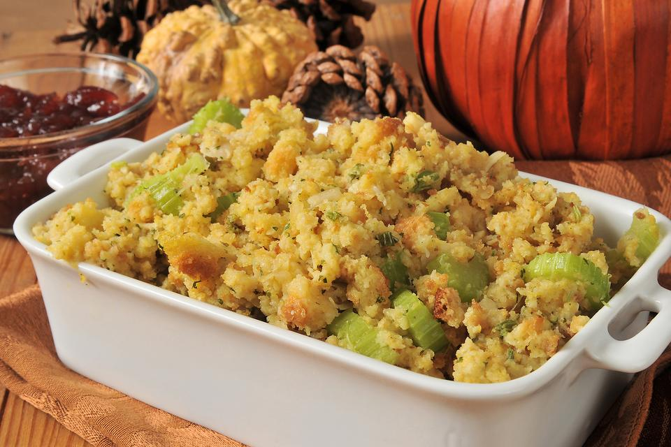 This Easy Cornbread Stuffing Recipe Is Ready in a Jiffy for Thanksgiving Dinner