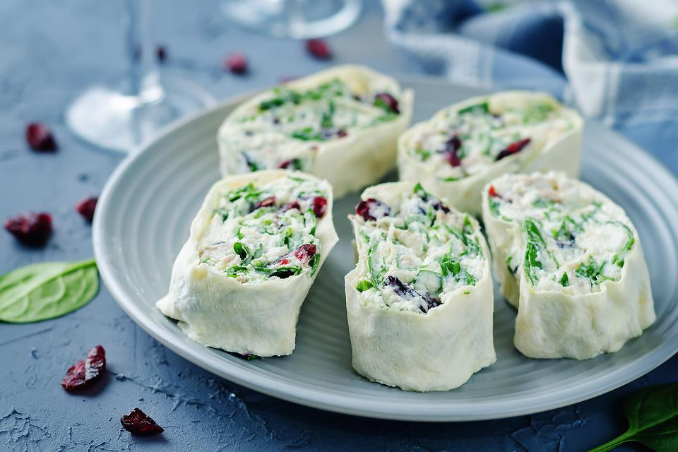 Cranberry & Cream Cheese Rollups With Fresh Herbs (Move Over, Cranberry Sauce!)