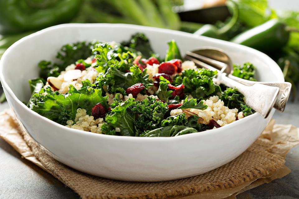 Craving Cranberries? Make This Cranberry Kale & Quinoa Salad With Cranberry Dressing Recipe!