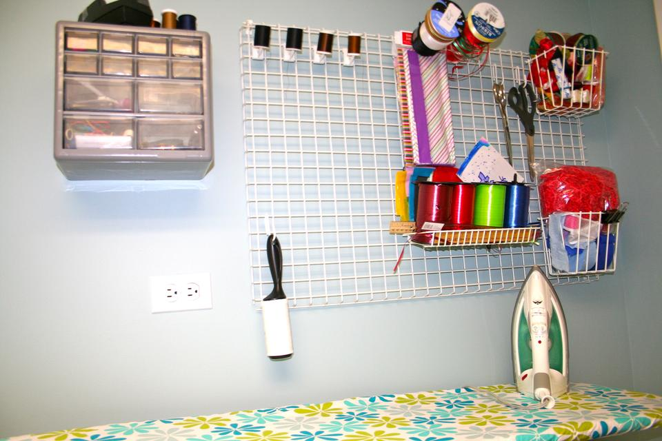 Create a Multipurpose Ironing Board Station in Your Laundry Room!