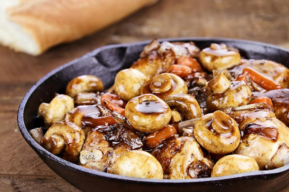 This Sherry-Braised Chicken & Mushrooms Recipe Is Protein Packed!