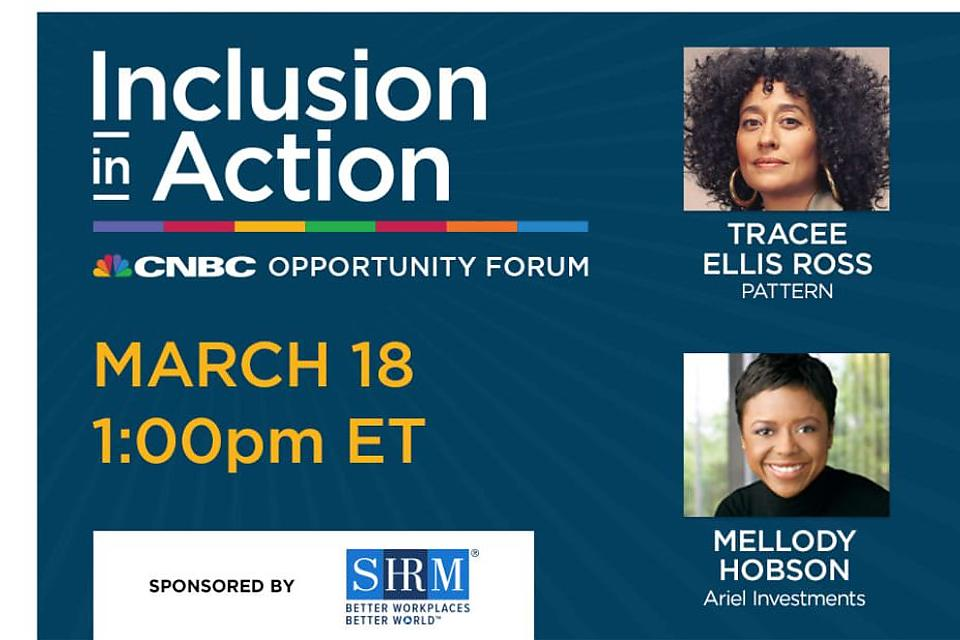 Business & Entrepreneurship Diversity: Mellody Hobson, Tracee Ellis Ross Make Business Case for Diversity & Inclusion at CNBC's Opportunity Forum