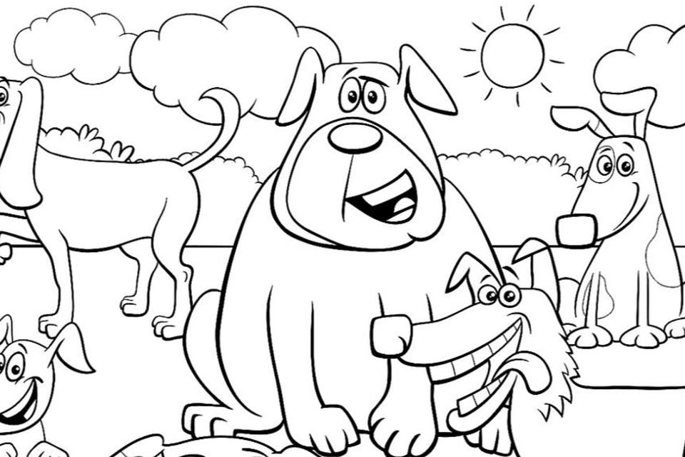 Dog Coloring Pages: Printable Coloring Pages of Dogs for Dog Lovers of All Ages