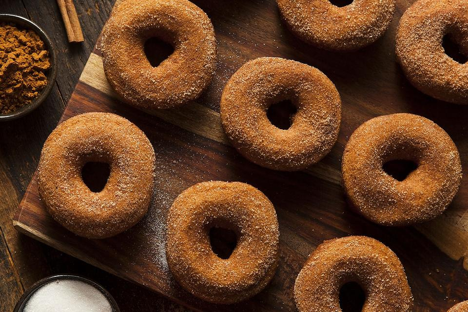 Melt-in-Your-Mouth Pumpkin Donut Recipe: A Baked Vegan Pumpkin Doughnut Recipe With Cinnamon-Sugar Dust