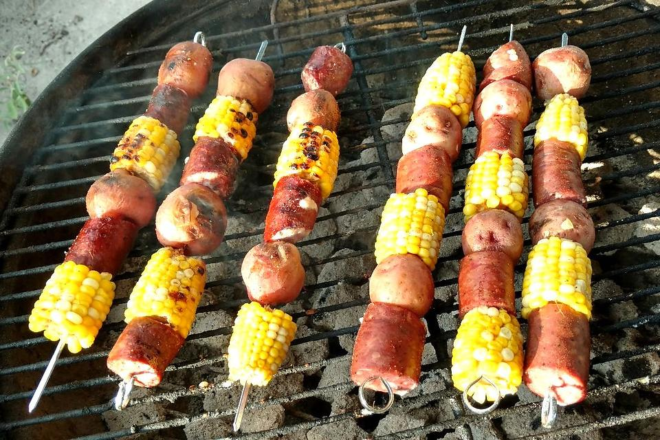 Easy Kebab Recipes: This Sausage, Corn & Potato Kebabs Recipe Is a Meal on a Stick