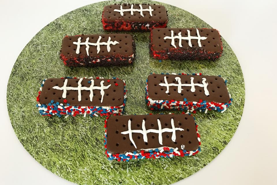 Easy Last Minute Football Ice Cream Sandwiches: Perfect Anytime!
