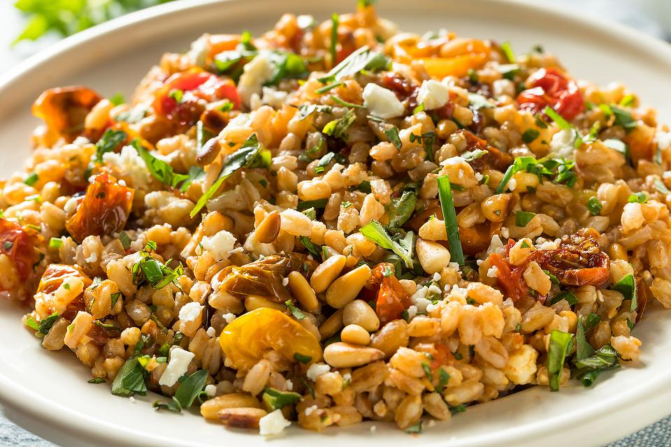 Sun-dried Tomato & Herb Farro Salad Recipe: A Healthy Ancient Grain Salad Recipe
