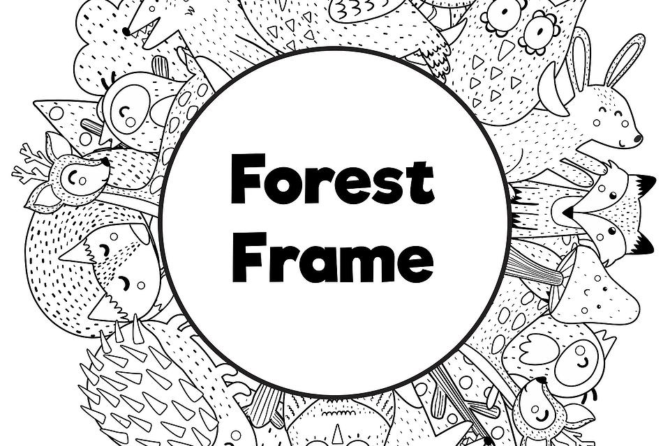 Photo Frame Coloring Pages for Kids: Free & Fun Printable Animal Frames for Kids to Color