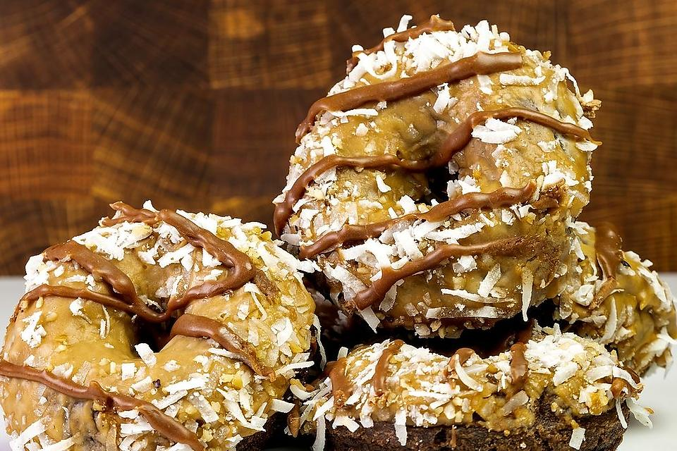 Easy German Chocolate Donuts Recipe: Air Fryer German Chocolate Doughnuts Are the Bomb Diggity