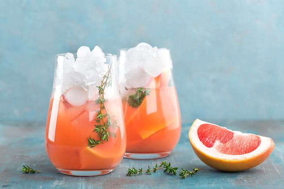Best Cocktail Recipes: There's Always Thyme to Make This Grapefruit, Vodka & Gin Cocktail