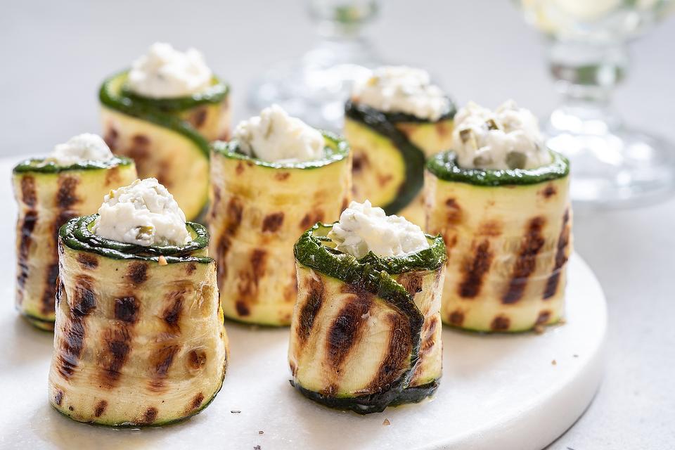 Grilled Zucchini Rollups Recipe: Mediterranean Zucchini Rolls With Lemon & Feta Are Guilt-free Snacks