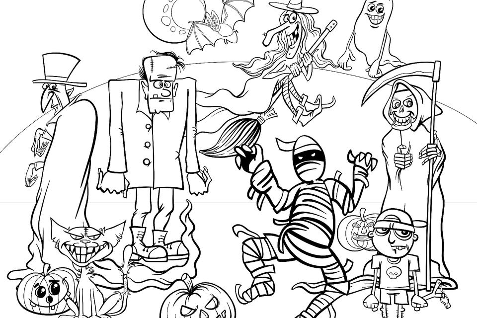 Halloween Coloring Pages: 10 Free Spooky Printable Activities For Kids  Printables 30Seconds Mom