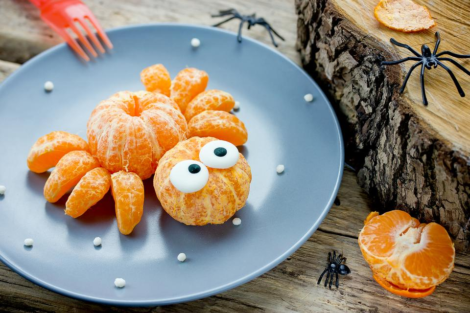 Halloween Food Fun: This Mandarin Orange Spider Is a Cutie!