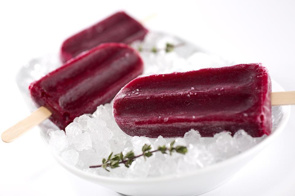 Cool Off With Chef Zipora Einav's Hibiscus Blueberry Ice Pops Recipe