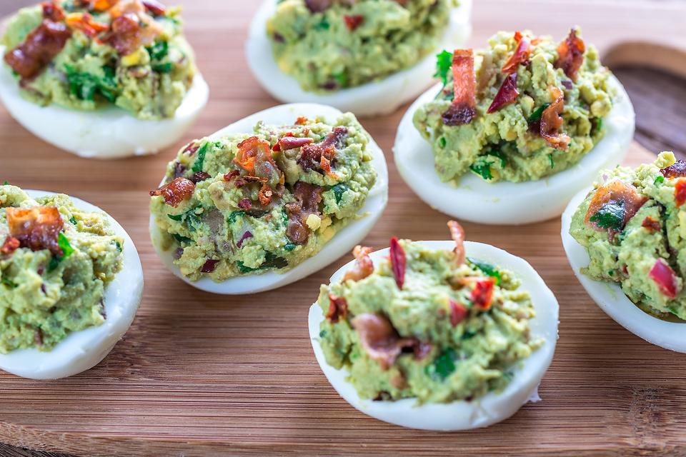 This Bacon Guacamole Deviled Eggs Recipe Is Borderline Genius