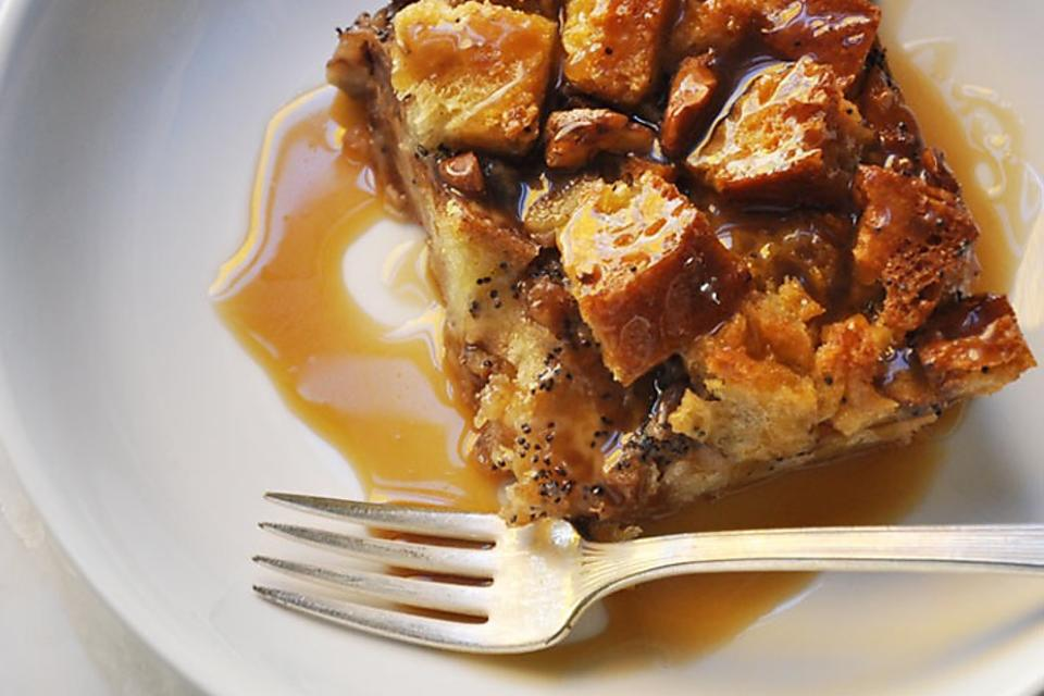 How to Make Brioche Bread Pudding With Bourbon Butterscotch Sauce!