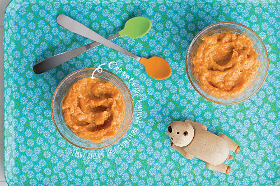 ​How to Make Carrot, Peach, Avocado & Flaxseed Puree for Your Baby!