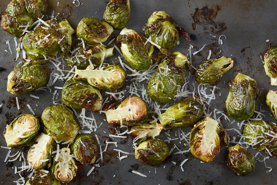 How to Make Lemon Parmesan Roasted Brussels Sprouts!