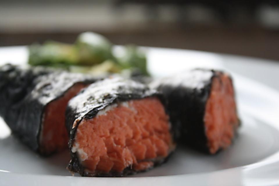 How to Make Super Simple Salmon Nori Sticks (Kid Friendly, Too)!