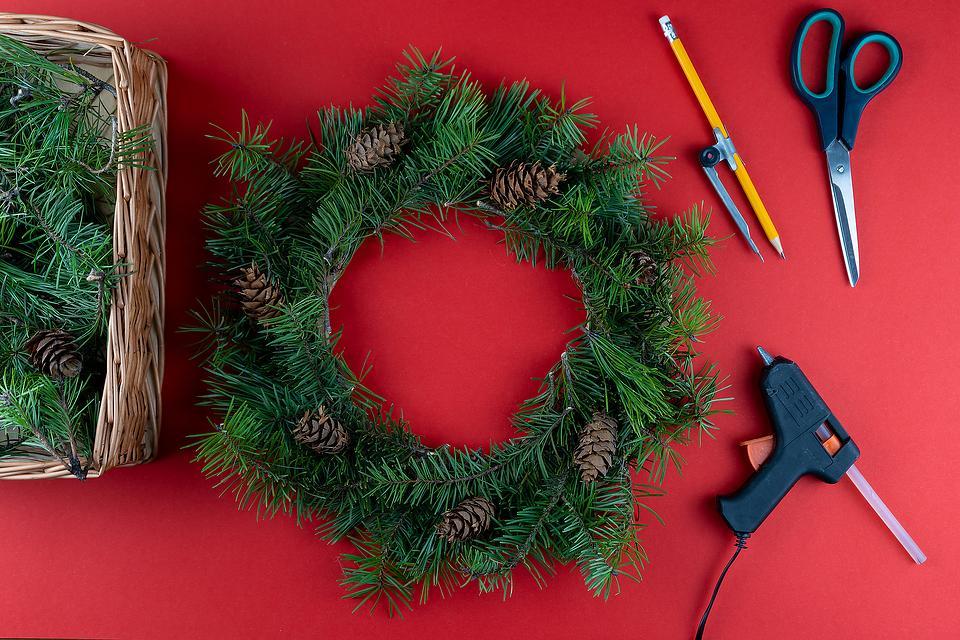 How to Make a DIY Pine Wreath: Grab Your Glue Gun & Make This Homemade Holiday Pine Wreath in Less Than an Hour