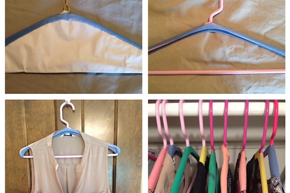 How to Organize Closets With DIY Non-Slip Hangers for No Extra Cost!