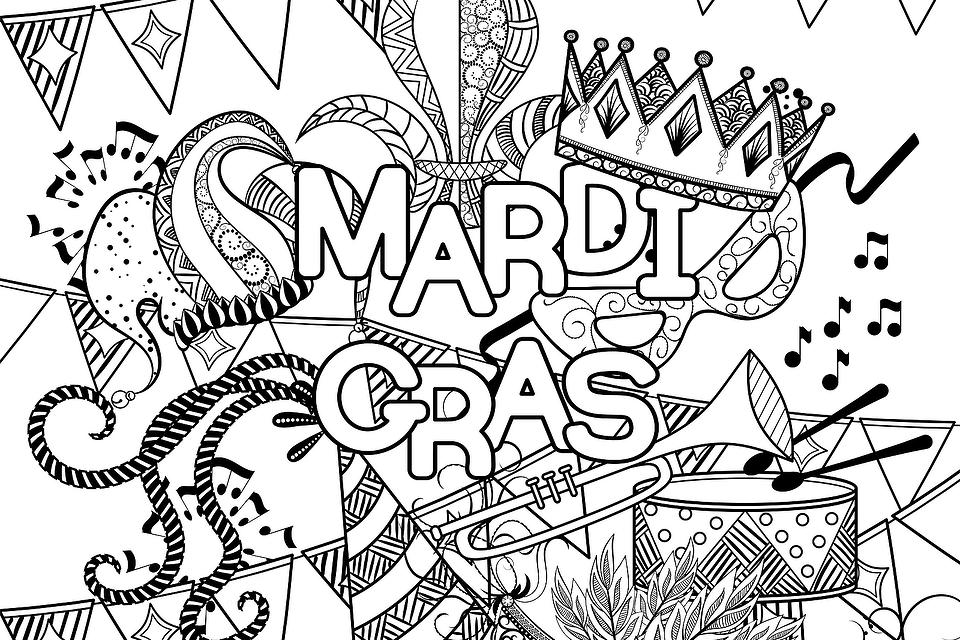 Mardi Gras Coloring Pages: 10 Free Printable Coloring Pages of Mardi Gras (Fat Tuesday)