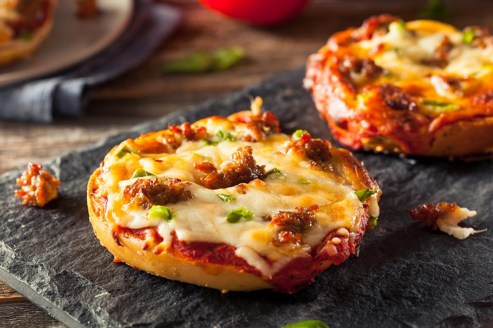 Pizza Party: How to Make Personal Bagel Sausage Pizzas