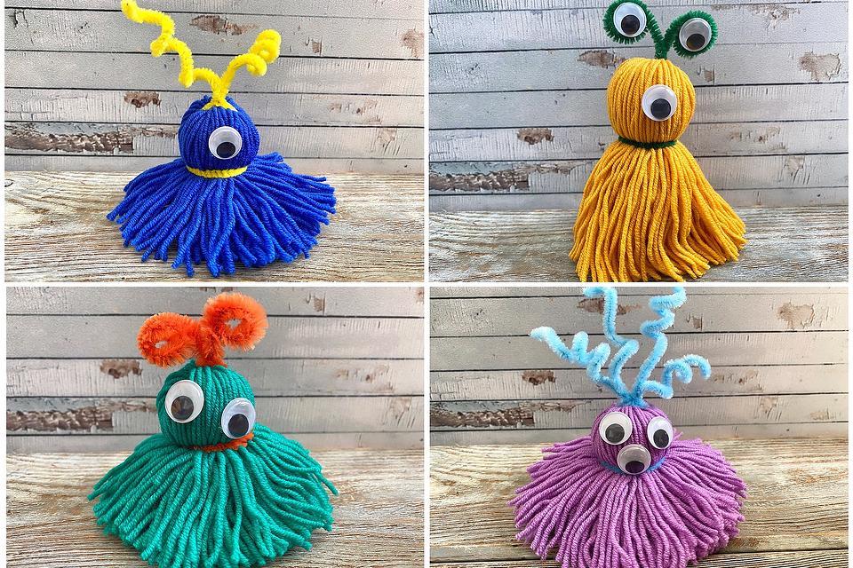 How to Make Yarn Dolls: 4 Fun & Friendly Monster Yarn Dolls Kids Can Make