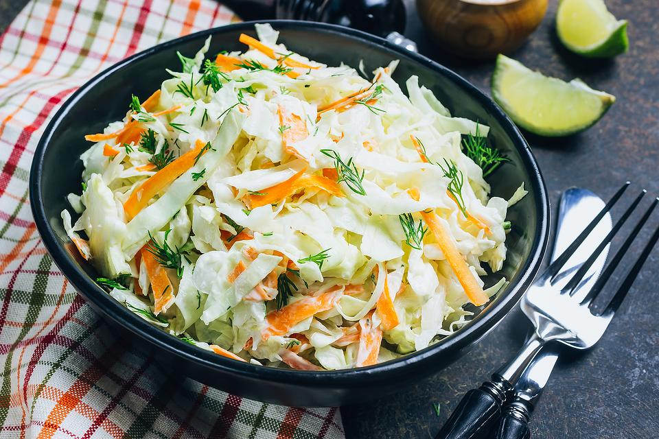 5-Minute No-Mayonnaise Cole Slaw Recipe: This Healthy 4-Ingredient Cole Slaw Recipe Is Mayo Free