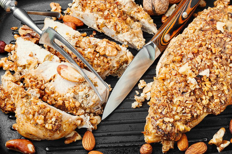 Nut-Crusted Chicken Breasts Recipe: This Easy Pecan & Almond Baked Chicken Recipe Is Super Crunchy