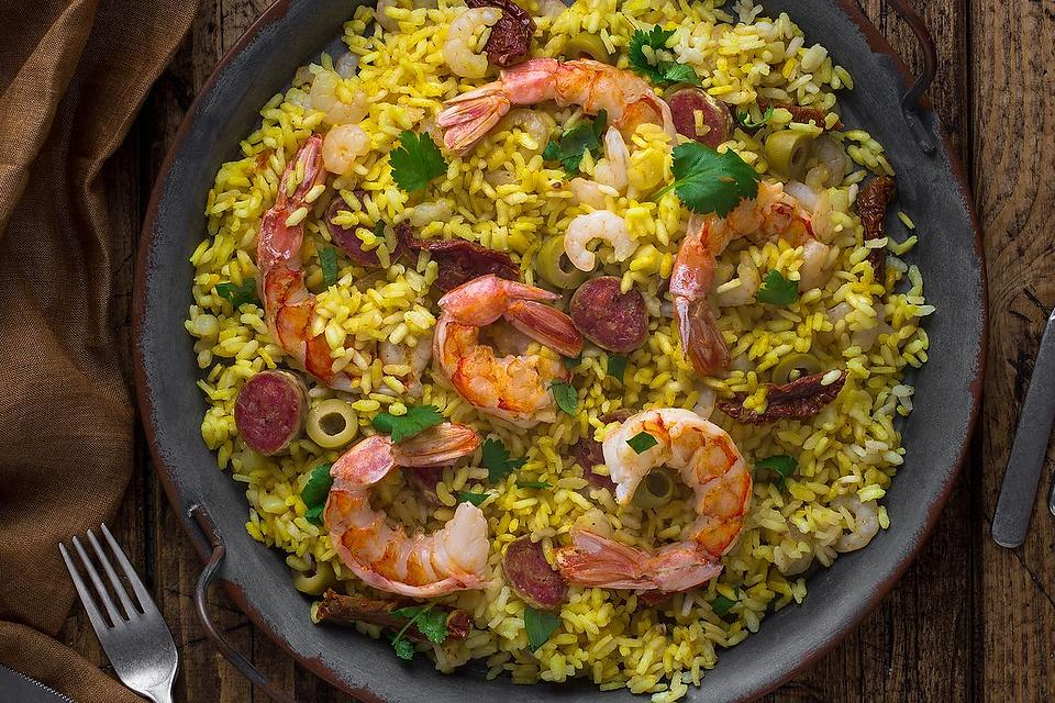 Easy Paella Recipes: This Savory Shrimp, Chicken & Chorizo Paella Recipe Is Perfect for Beginners