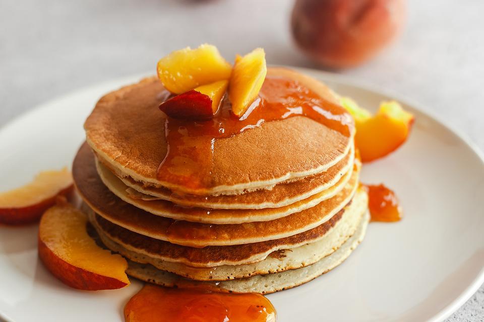 Easy Peach Pancakes Recipe: This Peach Pancakes With Peach Syrup Recipe Is Just Peachy