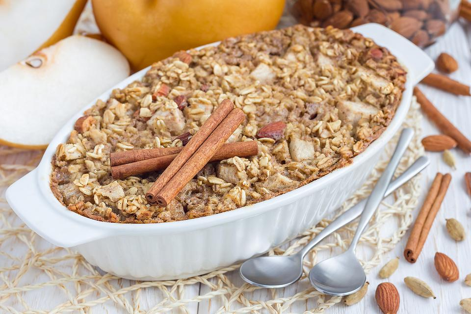 Cinnamon Pear Baked Oatmeal Recipe: This Easy Baked Oatmeal Recipe Celebrates That Fall Fruit