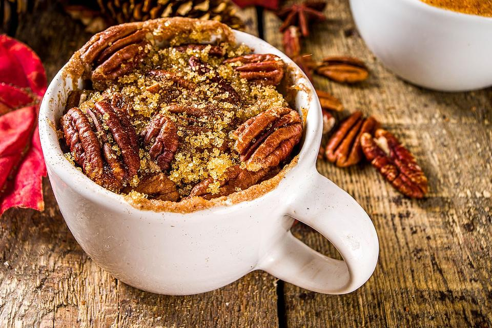 Pecan Pie in a Mug Recipe: This Gooey Pecan Pie Recipe for Two Is the Best