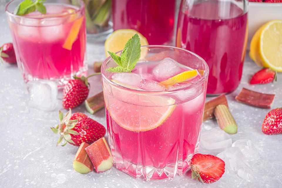 Refreshing Rhubarb Cocktail Recipe: This Easy Rhubarb Lemon Cocktail Recipe Is Pretty in Pink