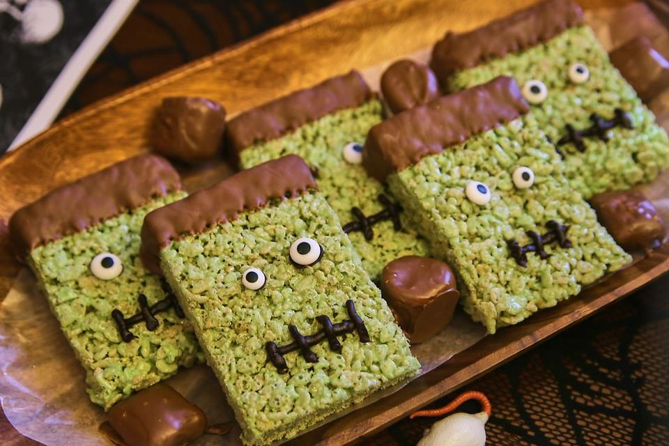 Fun Frankenstein Rice Krispies Treats Recipe: A Sweet Frankenstein Recipe for Halloween